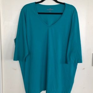 Woman Within Turquoise Tunic 1x